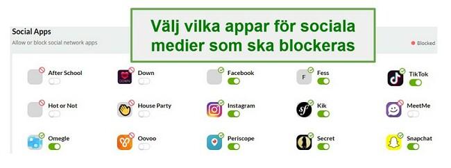 Mobicip sociala medier övervakning