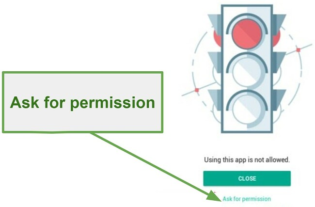 Safe Kids ask for permission