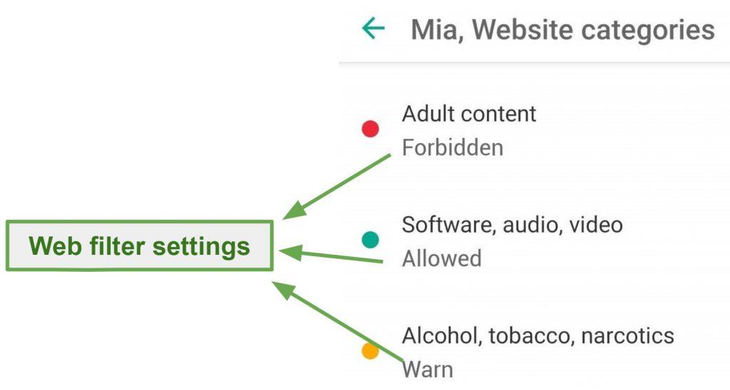 Safe Kids customize web filter