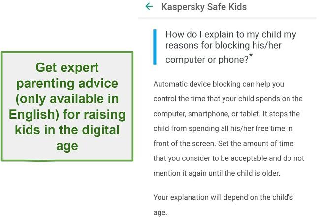 Safe Kids parenting advice