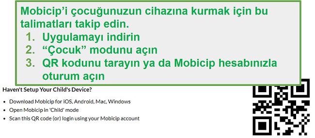 mobicip QR kodu