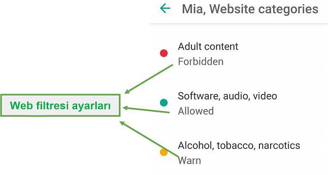 Safe Kids web filtrelerini uyarlar