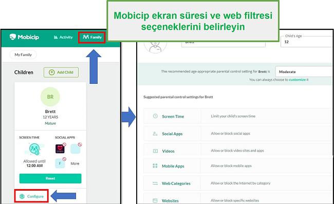 mobicip şapka einen Webfilter eingerichtet