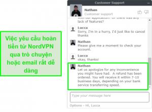 tốt nhất vpns windows nordvpn trò chuyện hoàn lại tiền dịch vụ khách hàng