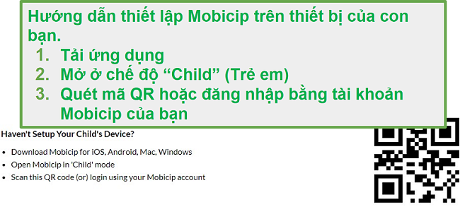 mã QR mobicip
