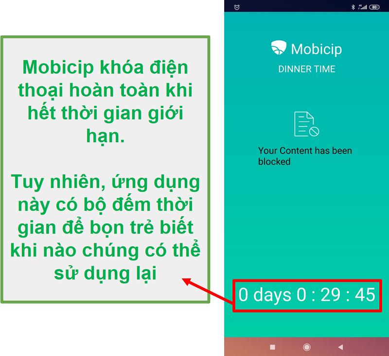 Mobicip chặn một thiết bị