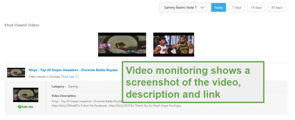 Video Supervision with Norton Family