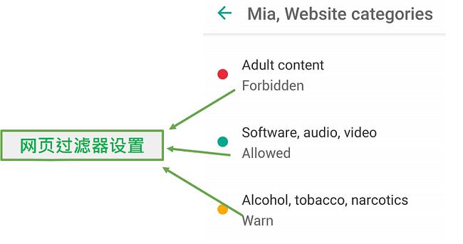 安全的孩子自定义Web过滤器