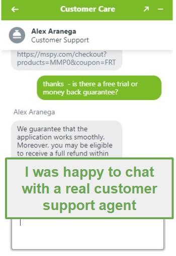 mSpy customer support