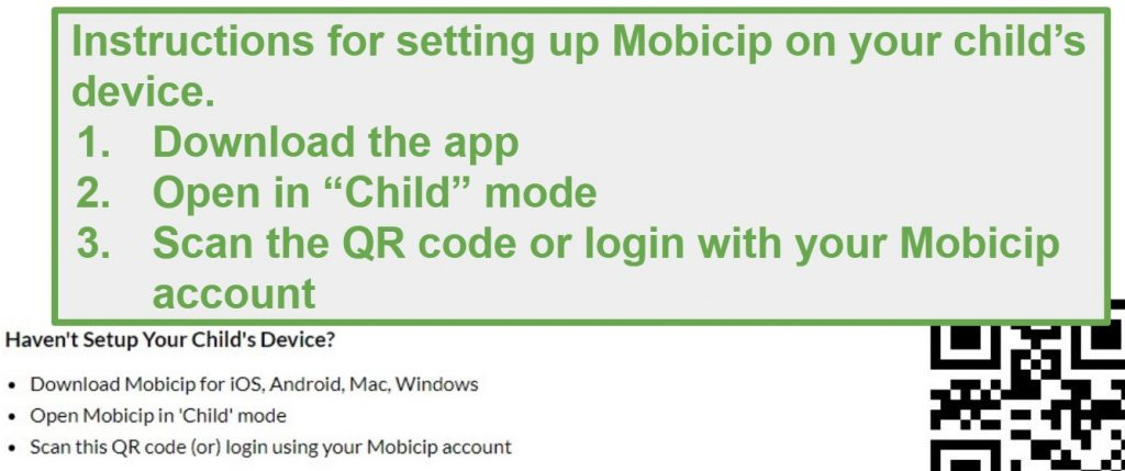 mobicip QR code