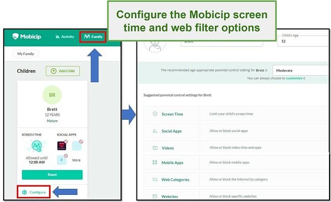 mobicip hat einen Webfilter eingerichtet