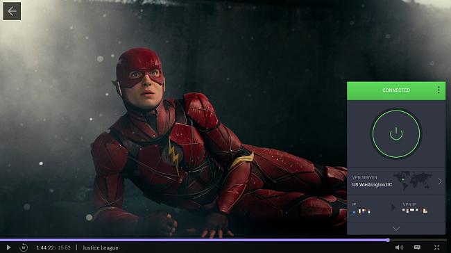 สกรีนช็อตของ PIA ที่ปลดบล็อก Justice League บน HBO Max