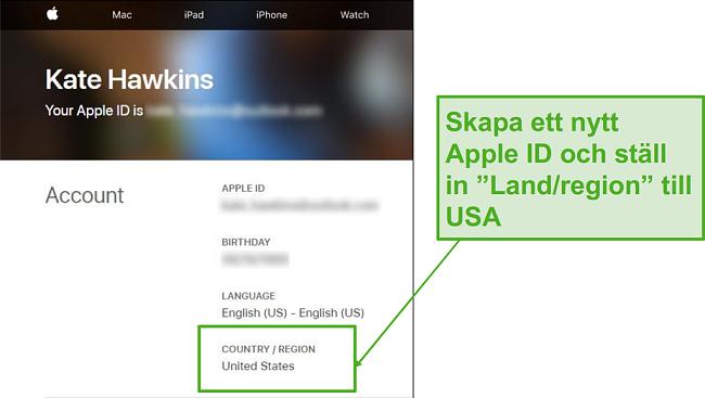 Skapa ett nytt Apple-ID och ändra landet till USA.