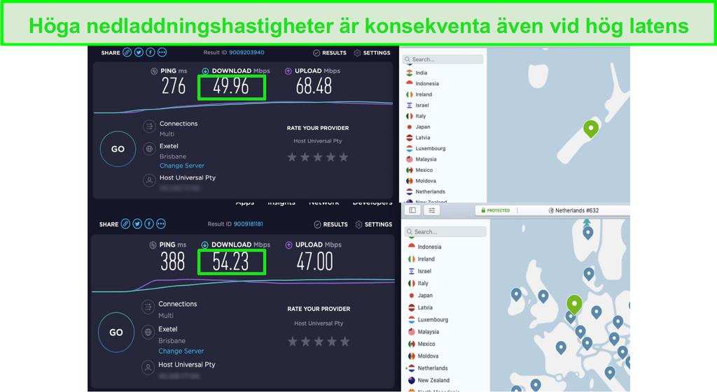 NordVPN:s hastigheter är tillräckligt snabba för UltraHD-streaming med Disney+ i USA, Australien, Nya Zeeland och Nederländerna.