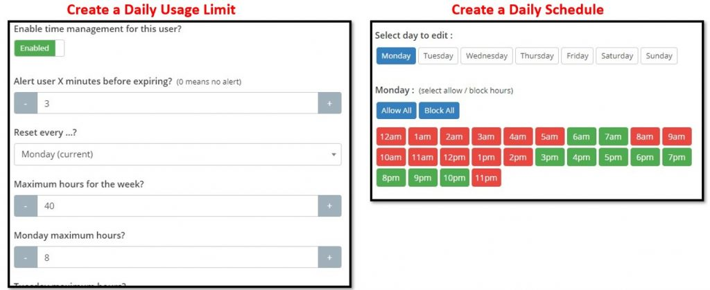 SentryPC time management tools