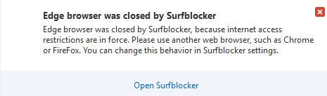 SurfBlocker doesn't work with Edge