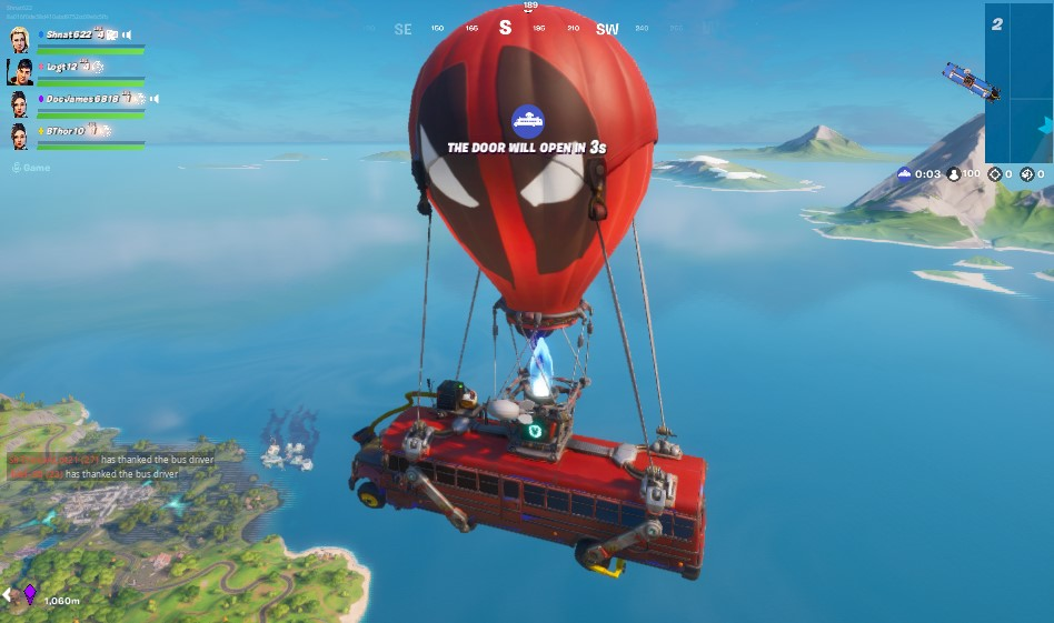 The Fortnite Battle Bus