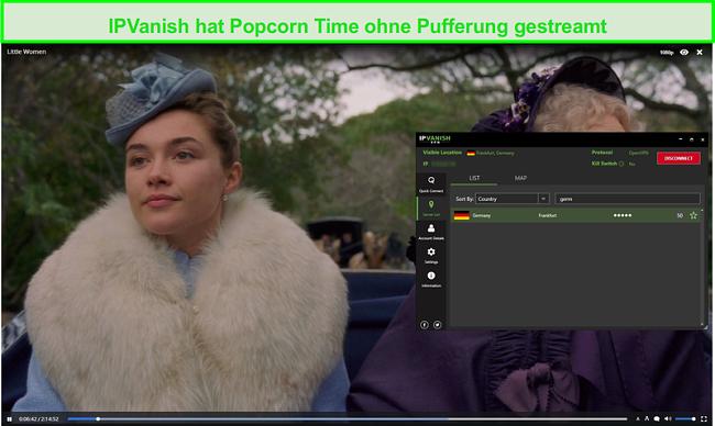 Screenshot von IPVanish Streaming Little Women auf Popcorn Time