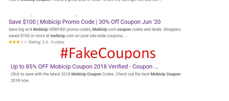 Fake Mobicip Coupons