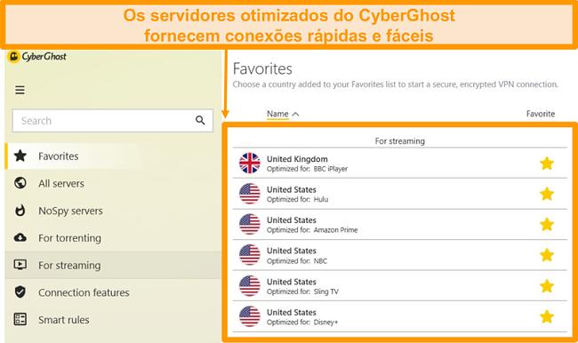 Screenshot de Como ver servidores otimizados da CyberGhost