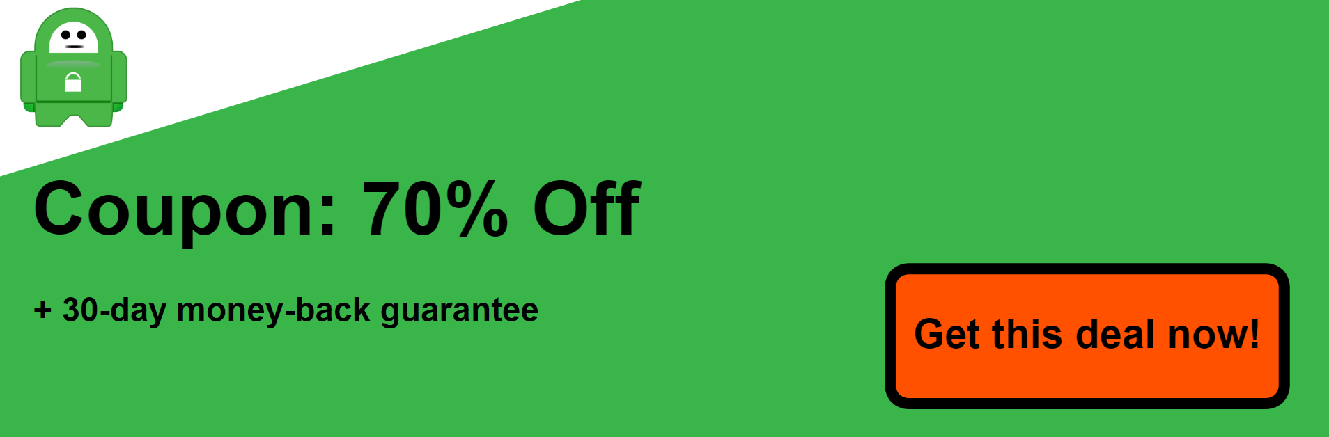 Screenshot of coupon 70% off Private Internet Access