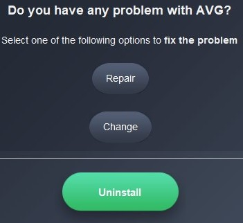 Uninstall AVG2