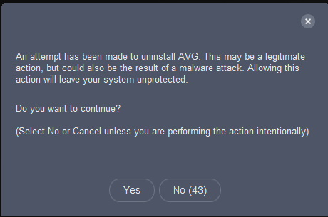 Uninstall AVG3