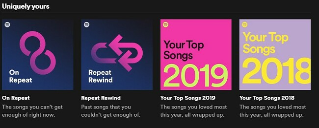 Spotify Uniquely yours