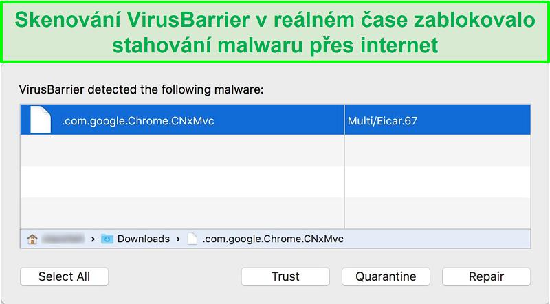 Screenshot Intego Malware Blocker Popup