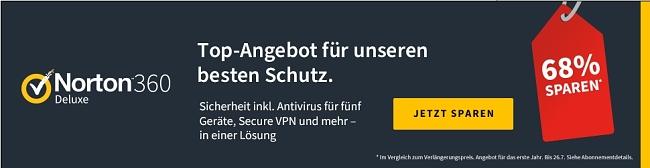 Norton360 Coupon auf limitiertes Angebot für Deutschland
