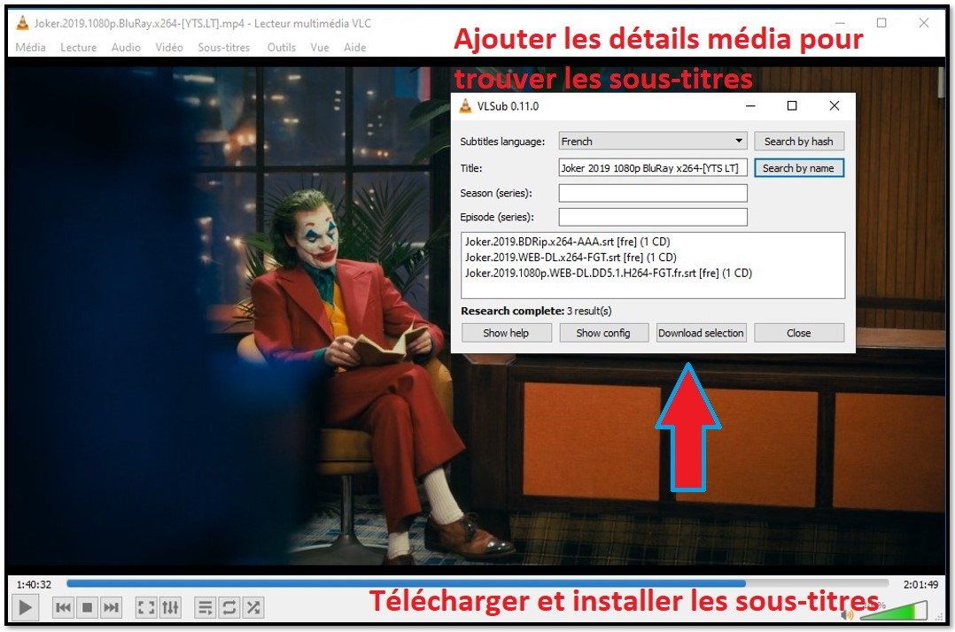 Télécharger Sous-titre avec VLC