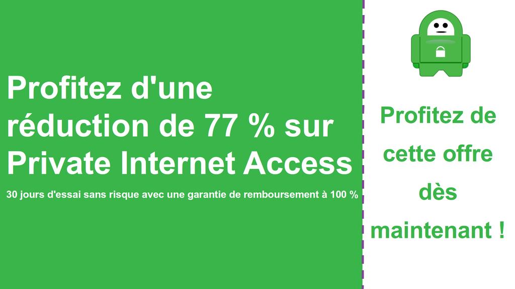 Capture d'écran sur le coupon d'accès Internet privé principal