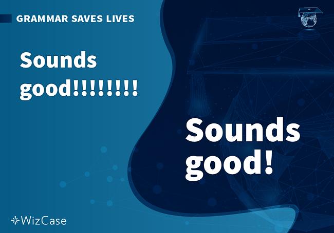Screenshot of sounds good grammar