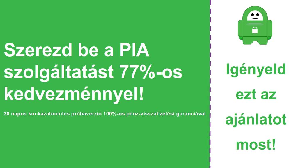Képernyőkép a fő PIA kuponról