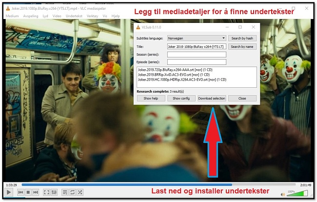 Last ned undertittel med VLC