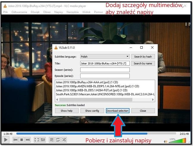 Pobierz Napisy z VLC