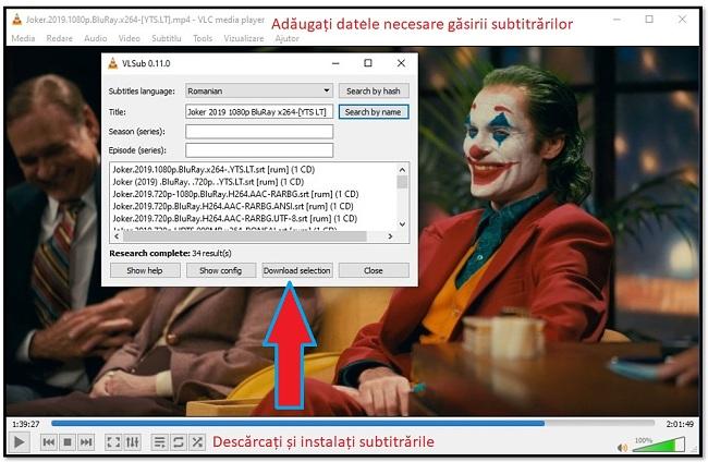 Descărcați Subtitle cu VLC