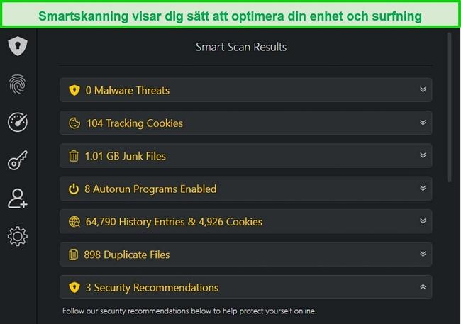 Skärmdump av TotalAVs Smart Scan-resultat