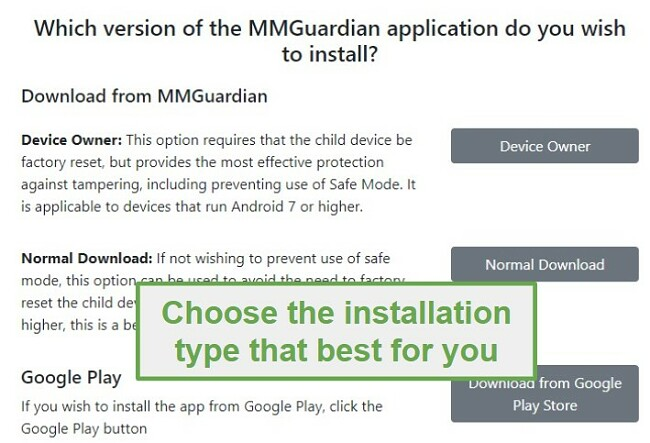 different versions of MMGuardian