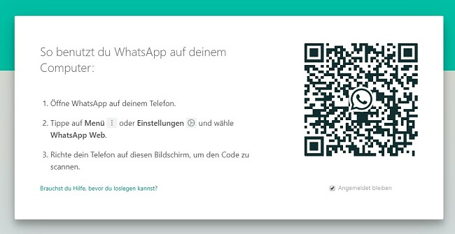 WhatsApp QR-Code für Windows