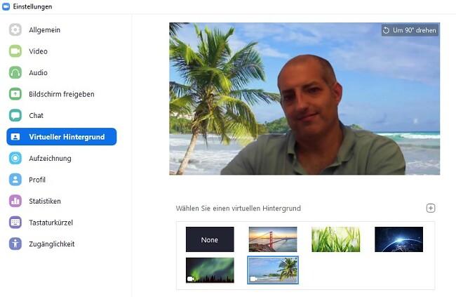 Zoom Virtuellen Hintergrund