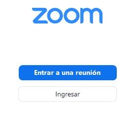 Página de inicio de sesión de Zoom