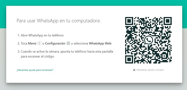 Código QR de WhatsApp para Windows