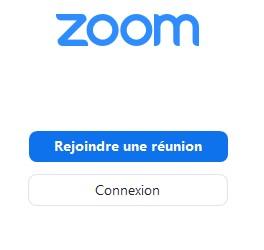 Zoom Page de connexion