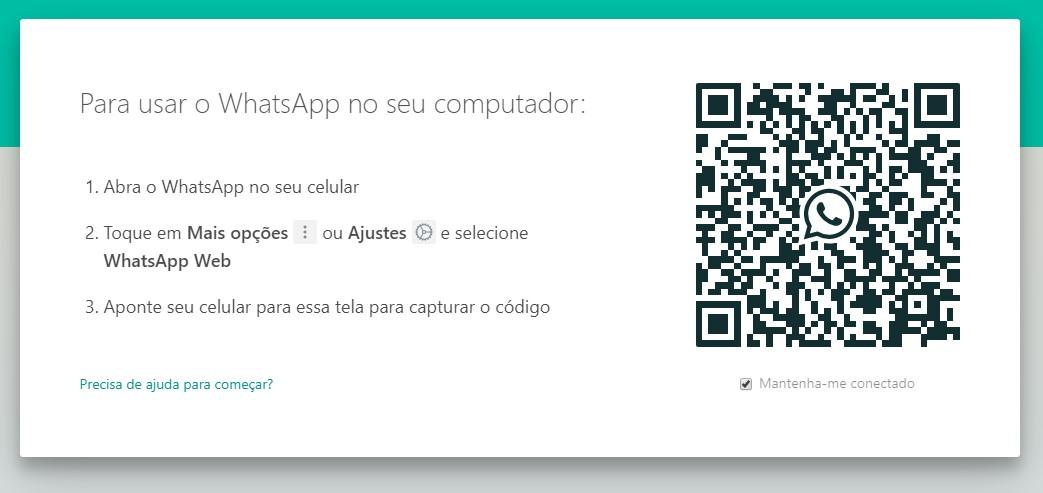 Código QR do WhatsApp para Windows