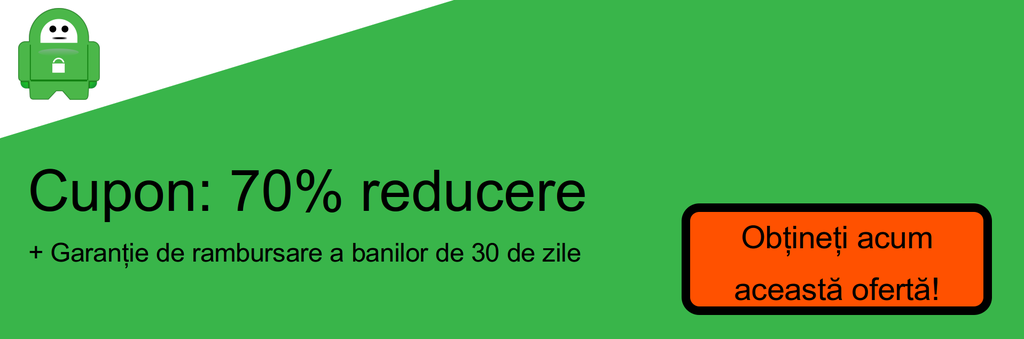 Screenshot cupon 70% reducere PIA