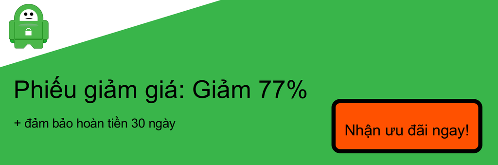 Ảnh chụp màn hình của phiếu giảm giá 77% PIA