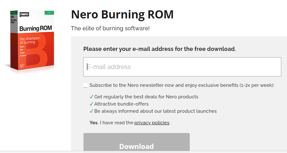 Download Nero Burning ROM2