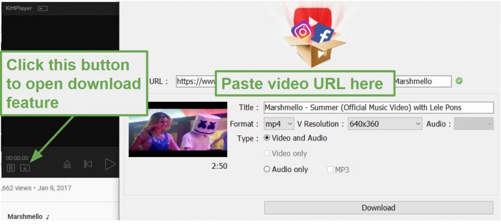 Download Videos with KMPlayer
