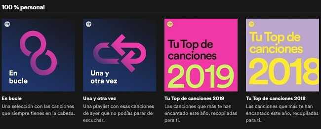 Spotify Exclusivamente tuyo